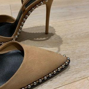 2e5d3e188e8 Alexander Wang Shoes - Alexander Wang Rina Studded Slingback Pumps NUDE